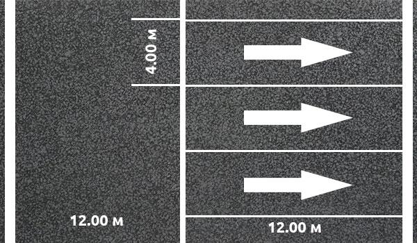 Разметка парковки для грузовиков 90 градусов