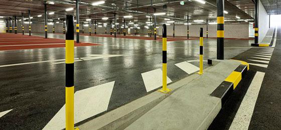 Пример вертикальной разметки на парковке согласно ГОСТ
