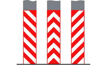 Вертикальная разметка для парковок красная